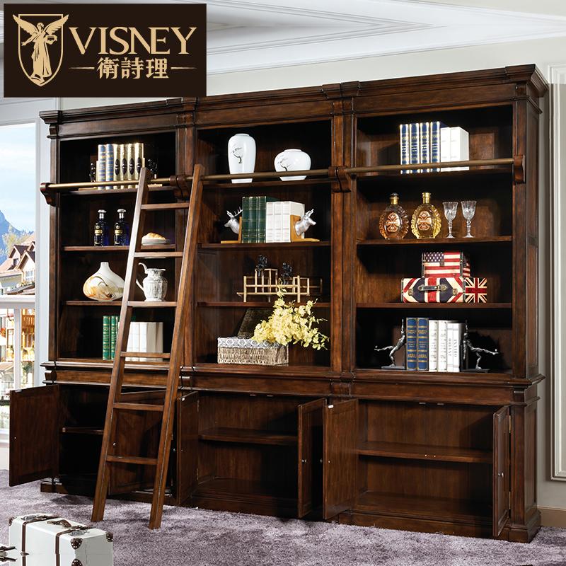 Visney欧式黄杨木六门书柜50015Y6-1