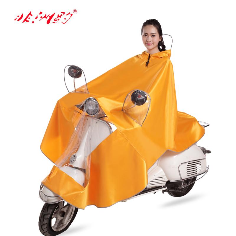 摩托车电动车雨衣单人成人加大加厚透明大帽檐男女电瓶车雨披