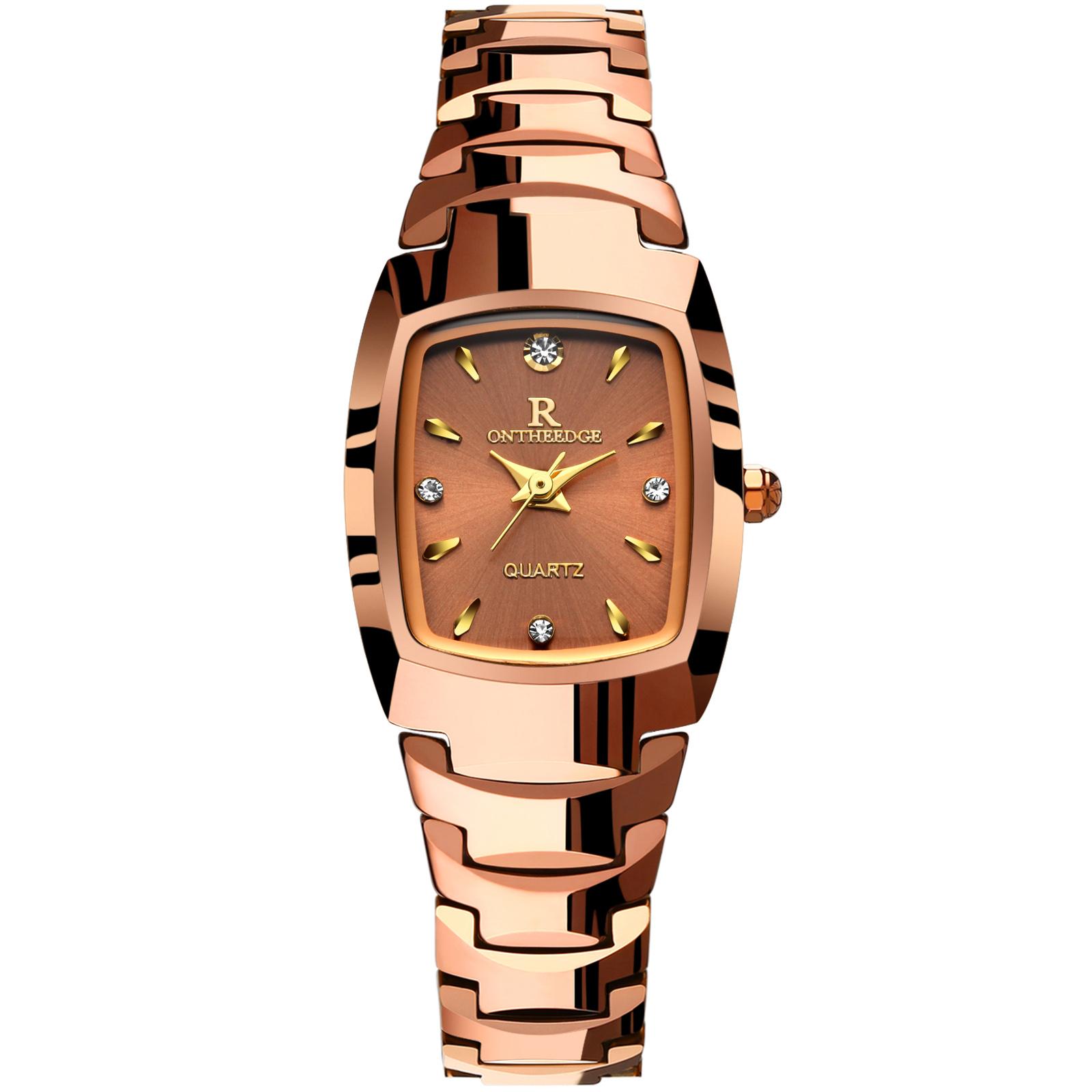 正品超薄防水女士手表女士腕表石英女钨钢女表男学生情侣手链手表