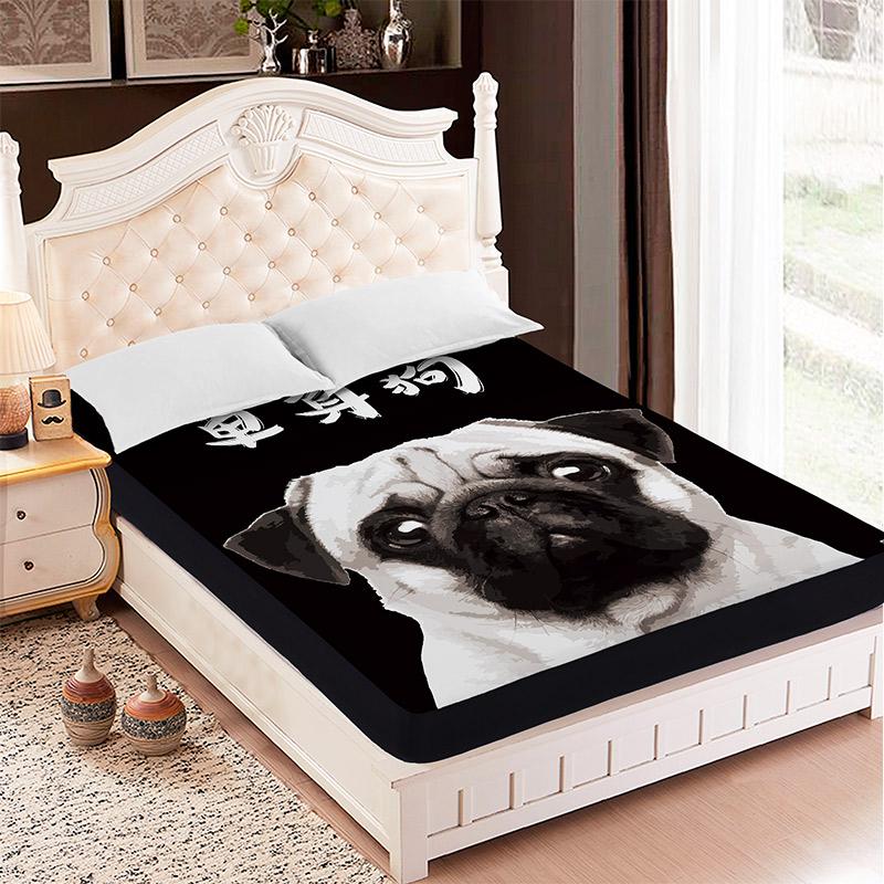朗绮国际床垫床罩卡通单身狗