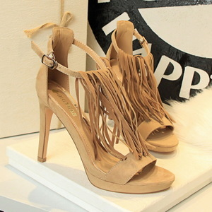 3583-1 in Europe and the wind restoring ancient ways is sexy nightclubs with suede high heels for women's shoes heel T w