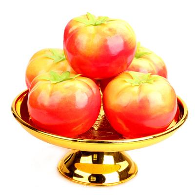 聚缘阁塑料仿真柿子果盘居家供奉用品假水果番茄风水摆件佛堂贡品