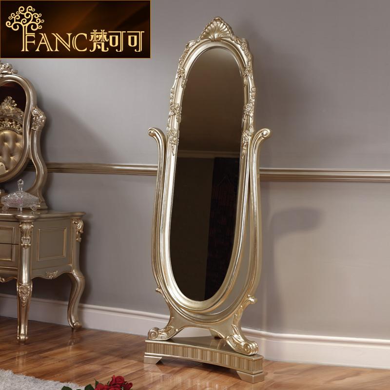 梵可可欧式实木穿衣镜落地镜子8815-34