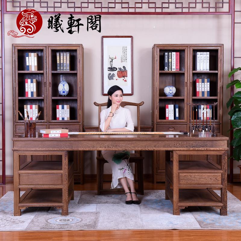曦轩阁古典书画中式书柜xixg-jcm-mshasg5