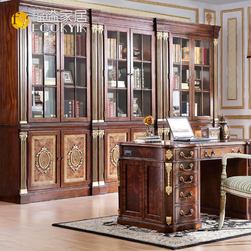 福溢家居英国温莎堡系列书柜F8301-135