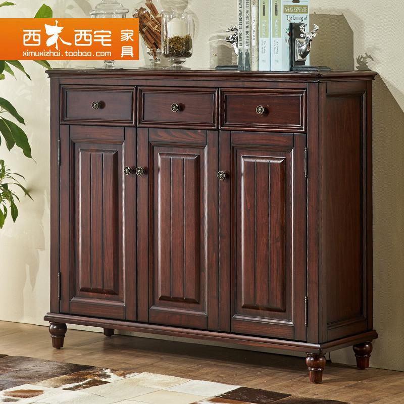 西木西宅家具美式对开门实木柜LB-001