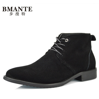 18 New England Fashion Men's Business Casual Shoes Leather Scrub High-top Spring Boots Men's Leather Boots