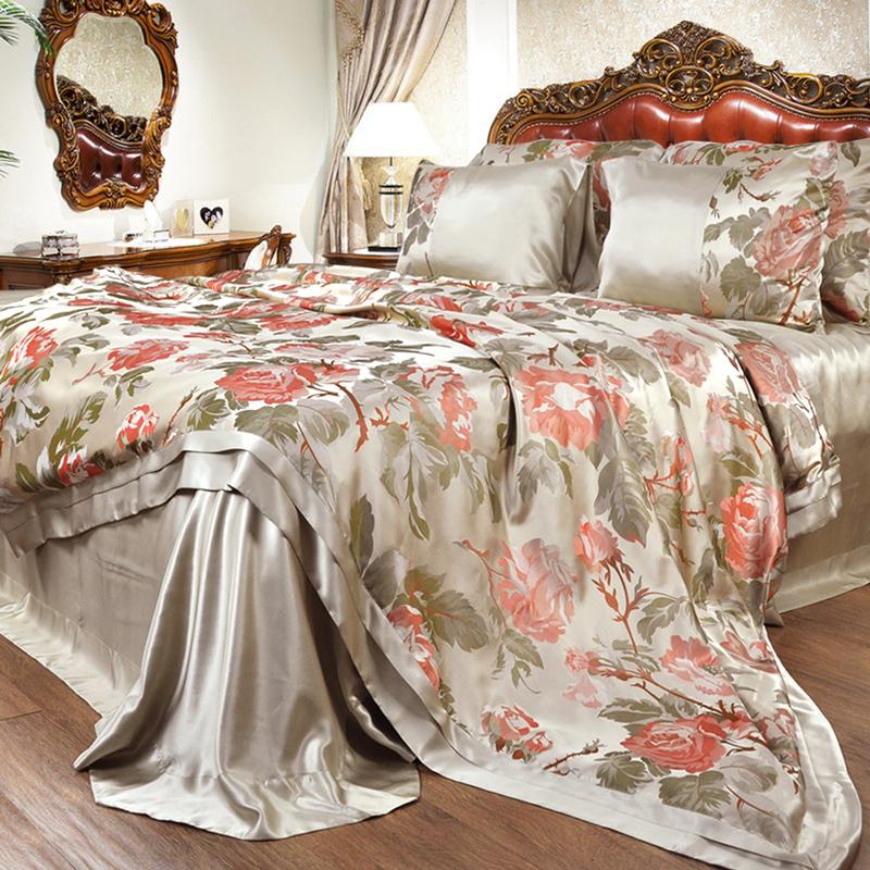 丝若水豪华色织大提花真丝床上用品SZ0325