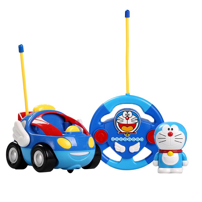 哆啦a梦儿童玩具电动耐摔耐撞遥控车遥控汽车卡通车模 DM830