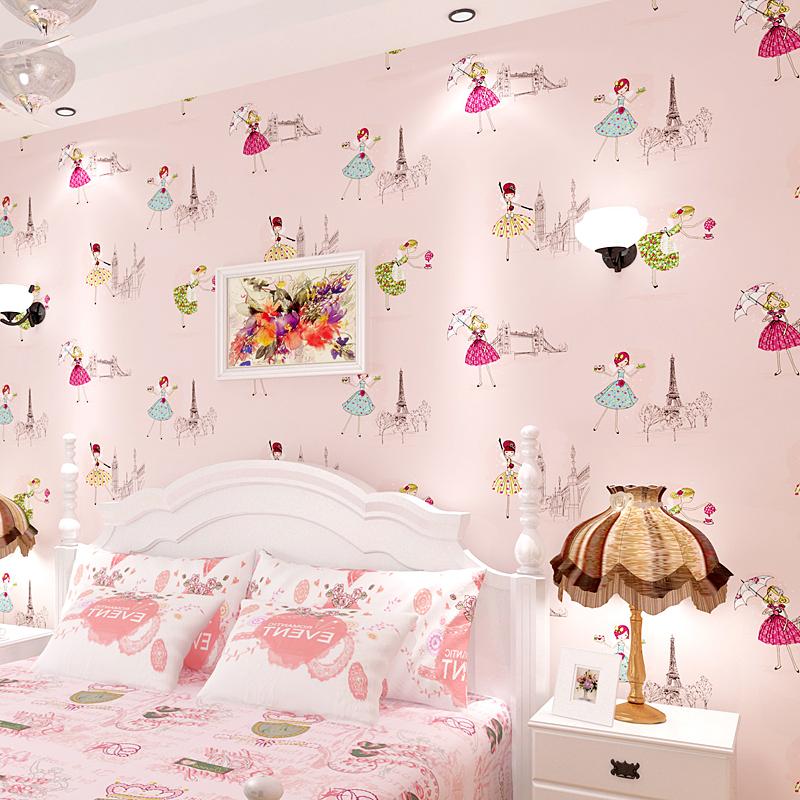 锐之颖儿童房卧室温馨墙纸blw