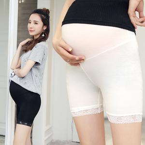 米豆鱼-薄款莫代尔孕妇托腹打底短裤