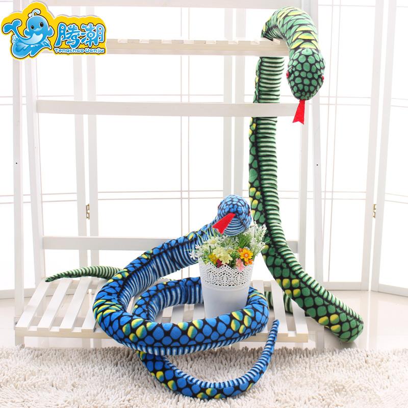 仿真蛇毛绒玩具抱枕大花纹蟒蛇眼镜蛇公仔生肖蛇创意搞怪生日礼物