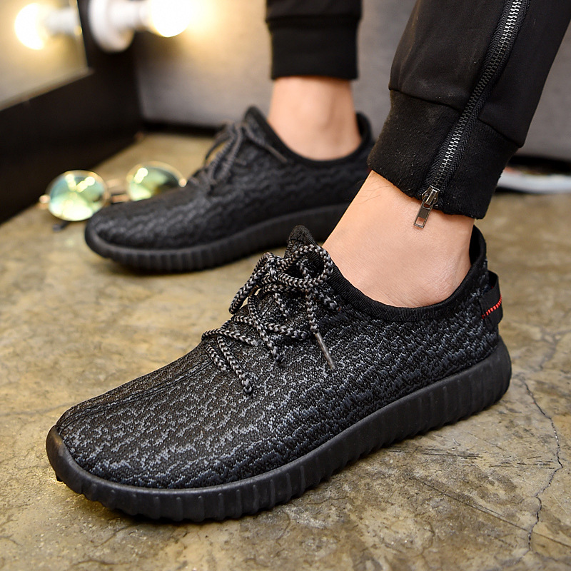 350v2 椰子新款网鞋透气男鞋男学生鞋子网面运动休闲鞋韩版男式潮