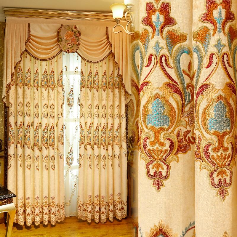 一米欧式窗帘布现代飘窗安迪加西
