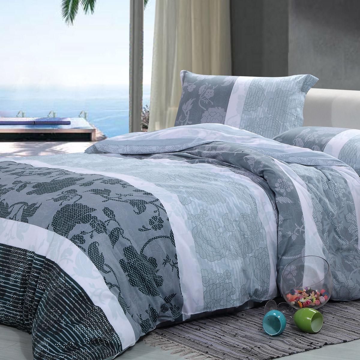 利美泰床上用品四件套1.2米被套斜纹印花1.5-1.8m床