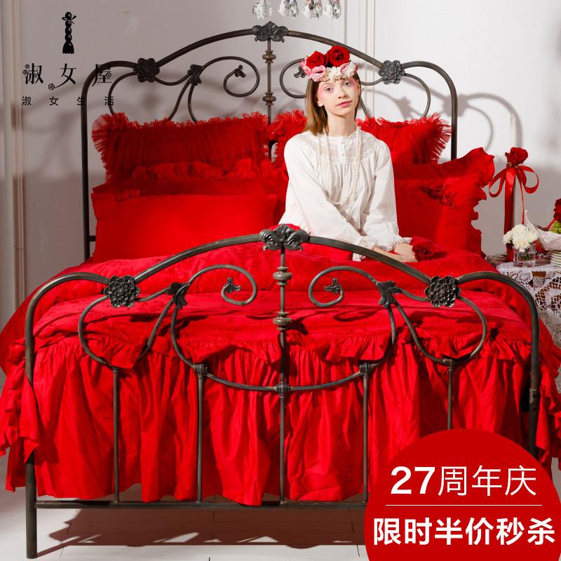 淑女屋六件套大红色婚庆套件JHAEAA0101