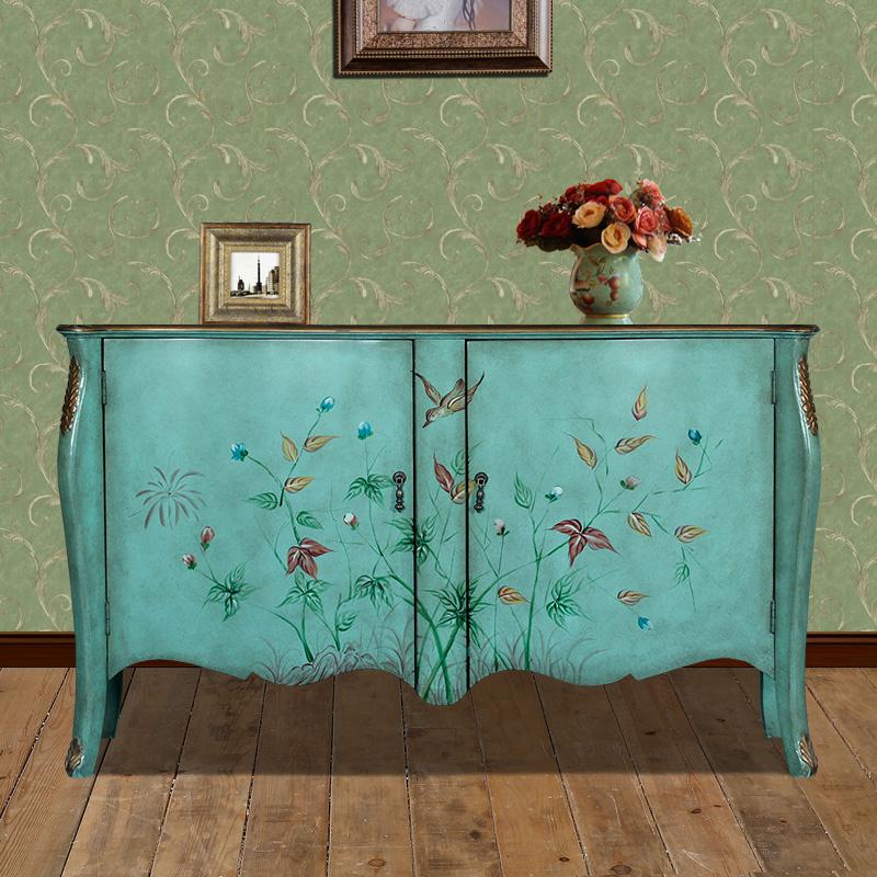 富兰德美式仿古两门装饰柜FW8338