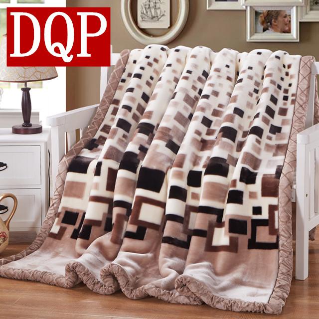 DQP冬季拉舍尔毛毯91116110105lasheer