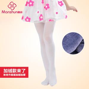 春秋款儿童连裤袜女童天鹅绒白色丝袜