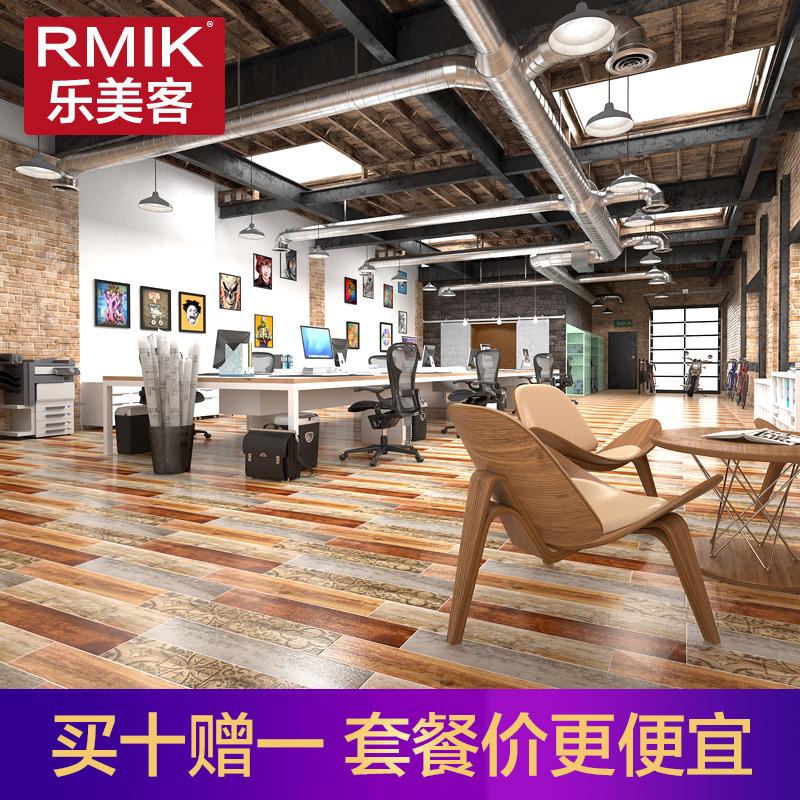 乐美客简约现代瓷砖木纹PY18702