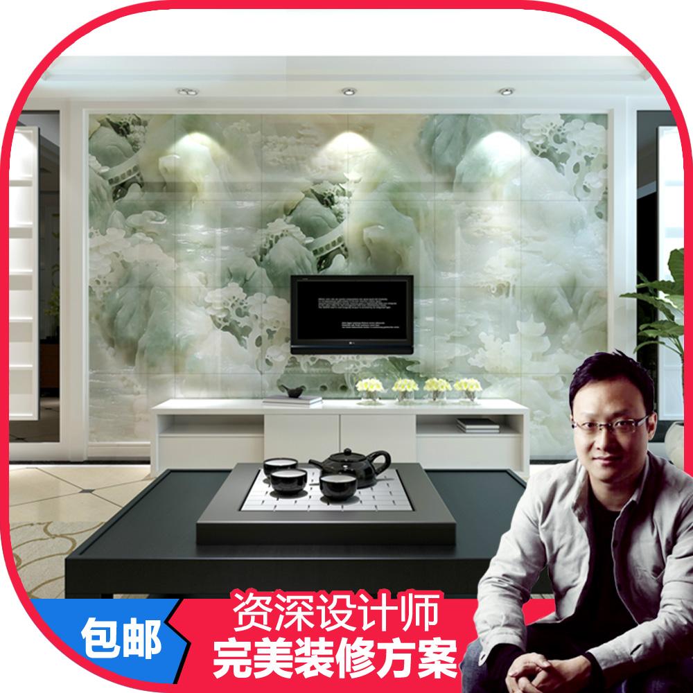 上海滩现代中式风格背景墙瓷砖别有洞天