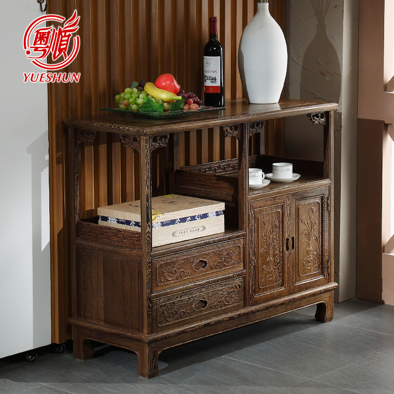 粤顺家具红木茶水柜中式实木储物柜