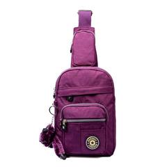 诺佰莉男女胸包休闲包帆布包斜挎包运动单肩包韩版背包包