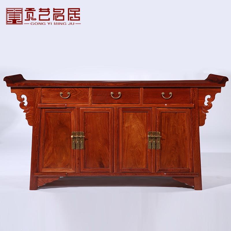 贡艺名居红木家具缅甸花梨木门柜GY-033