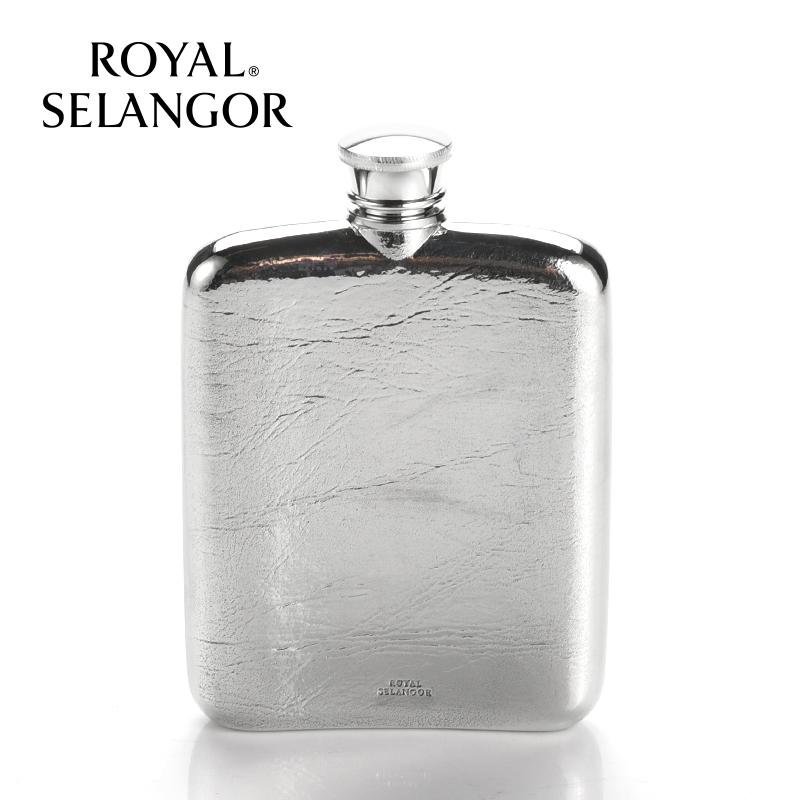 皇家雪兰莪小酒壶随身迷你加厚白酒壶 马来西亚手工锡制品礼盒装