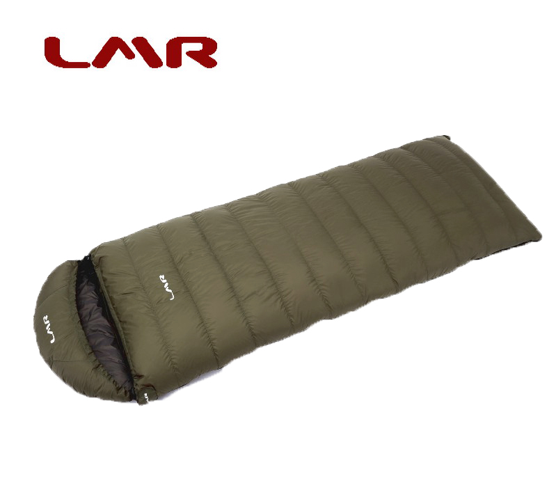 LMR户外羽绒睡袋成人 超轻信封式可拼1000克 秋冬季登山-15度包邮