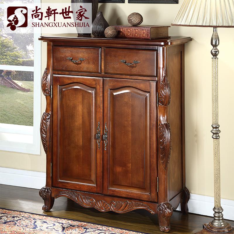 尚轩世家美式欧式实木雕花柜子