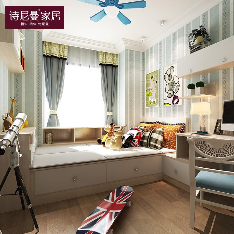 诗尼曼 儿童榻榻米空间定做卧室踏踏米床定制整体塌塌米床飘窗