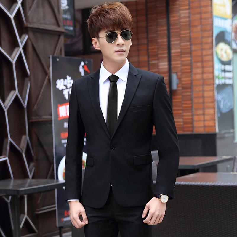 商务正装三件套西服套装男士职业小西装修身韩版新郎伴郎结婚礼服
