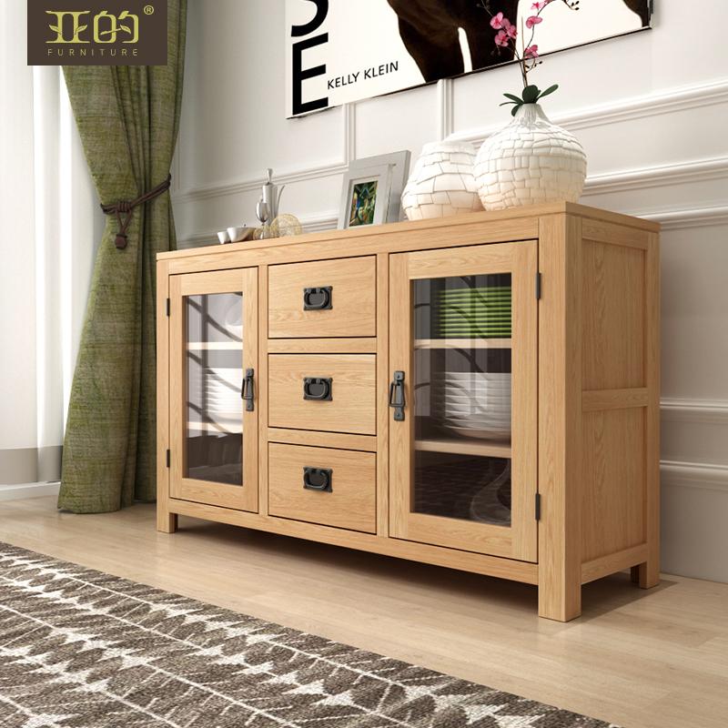 亚的北欧白蜡木实木餐边柜Y09