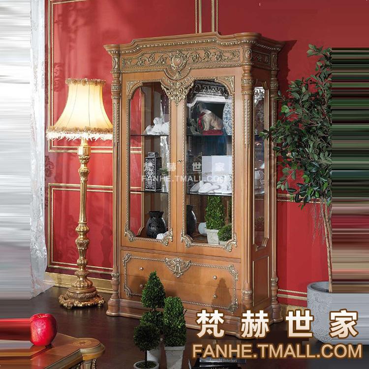 梵赫意大利古典酒柜实木雕花f22d027