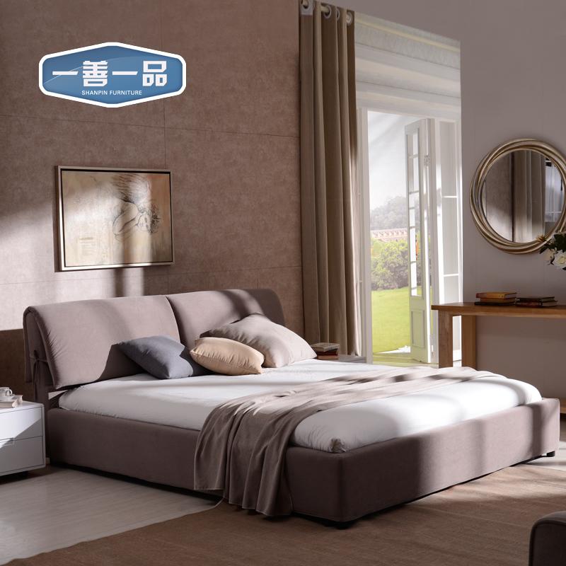 一善一品简约现代布艺床SP-B618