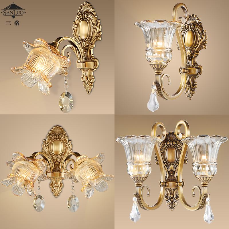 三洛美式全铜灯壁灯HQ0002-2