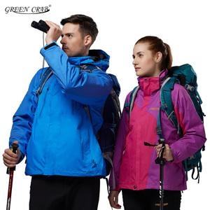 冬季户外加大码加肥冲锋衣男女三合一两件套防水防风加厚保暖外套