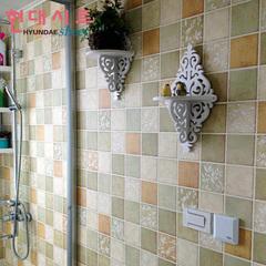 韩国自粘墙纸壁纸厨房卫生间防水浴室环保砖纹马赛克墙贴瓷砖贴纸