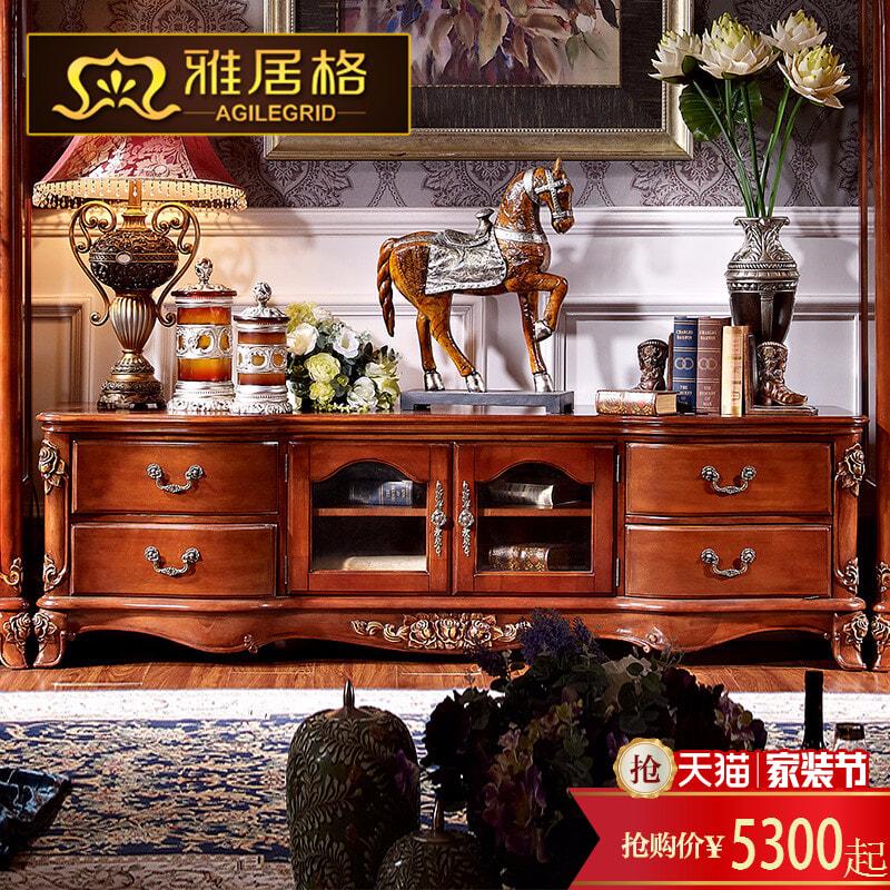 雅居格全实木电视柜r5105