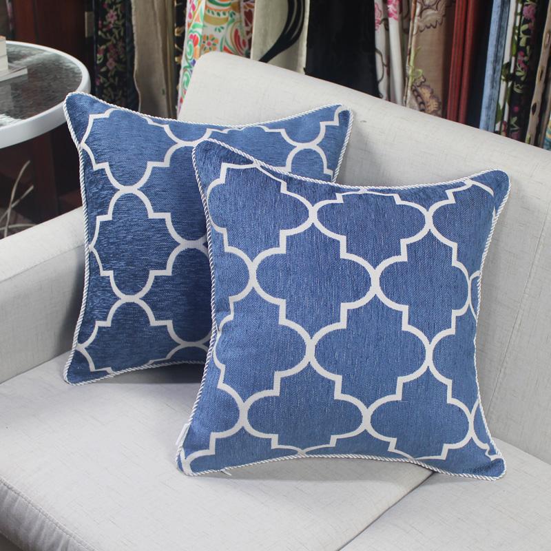 丝茉尔现代中式大抱枕沙发靠垫爱丁堡双面滚边靠