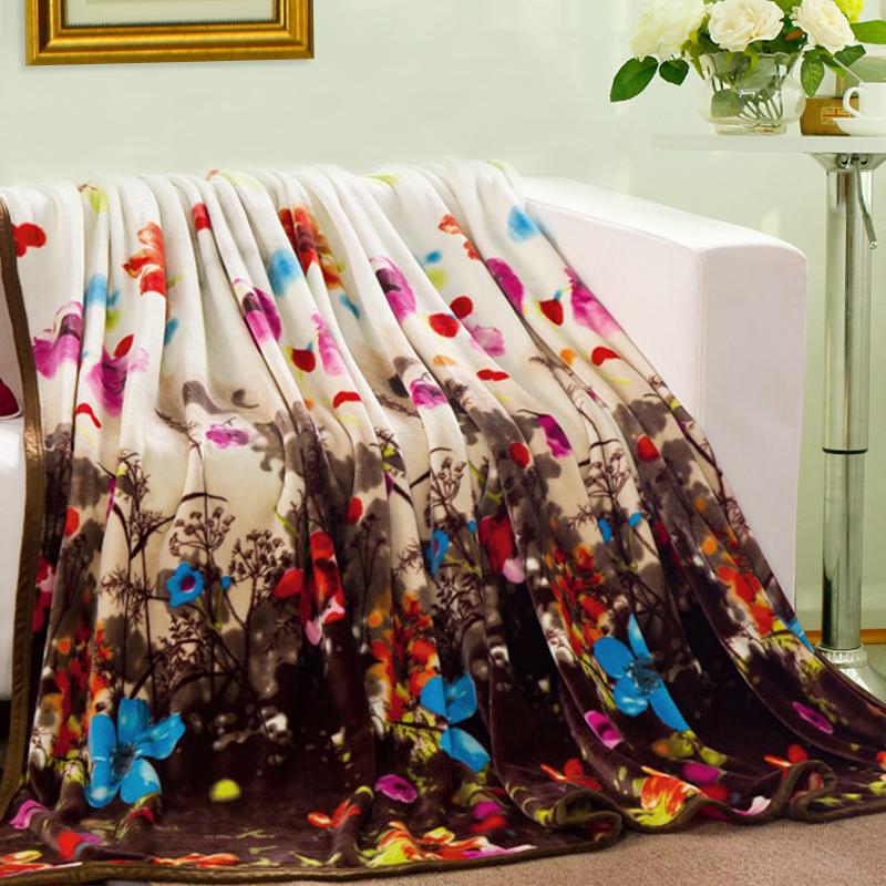 锦色华年毯子梦花园毛毯