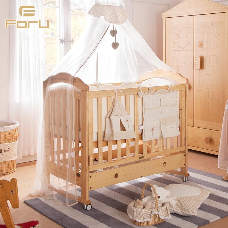 芙儿优欧式婴儿床水性漆11120126
