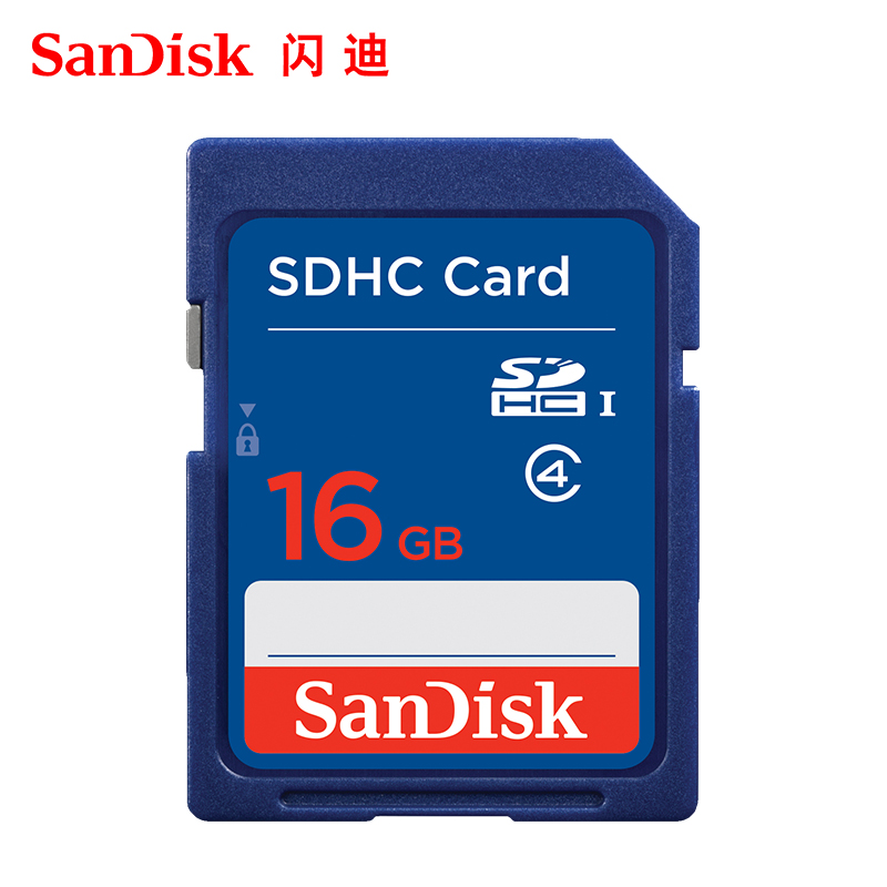 闪迪sd卡16g高速内存卡佳能数码单反相机卡16g存储卡五年换新