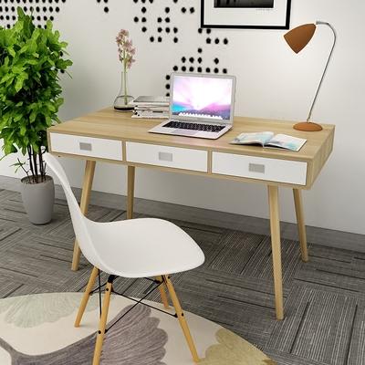 2平米 北欧电脑桌台式书桌家用简约现代简易抽屉写字台小桌子笔记本家具