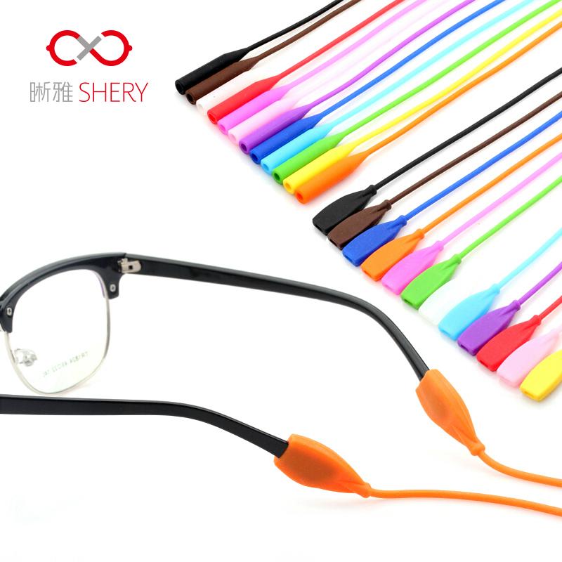 眼镜绳 固定绑带眼镜腿配件 晰雅户外运动眼镜链硅胶套眼镜防滑绳