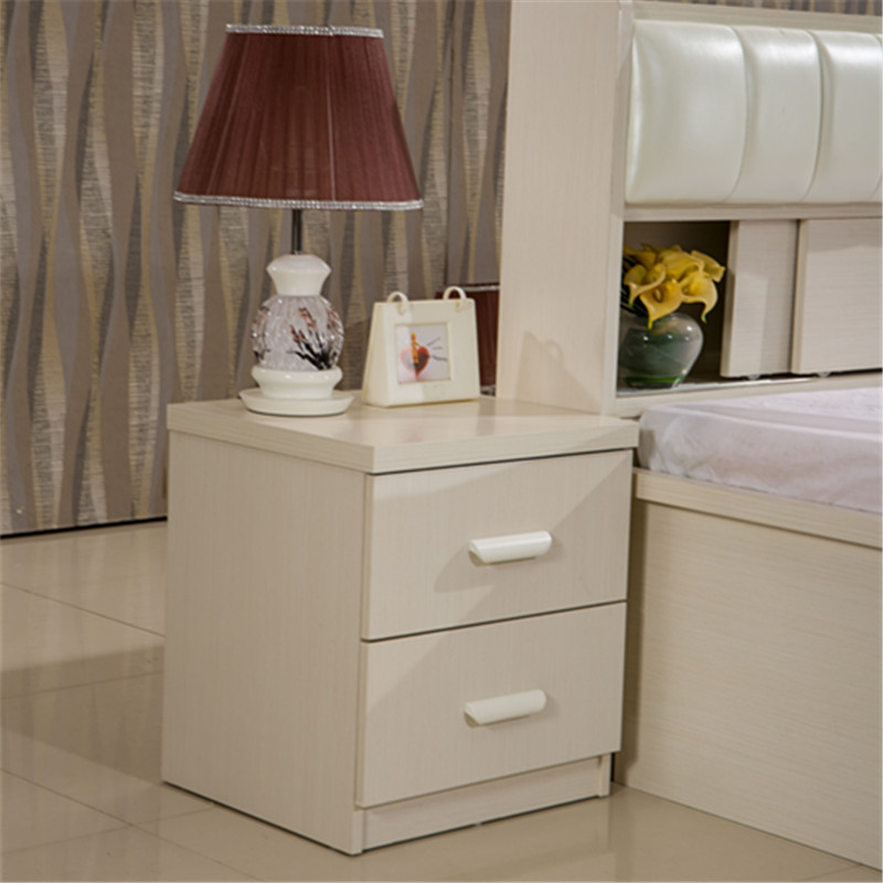 牛丁家具简易木质床头柜整体灯台