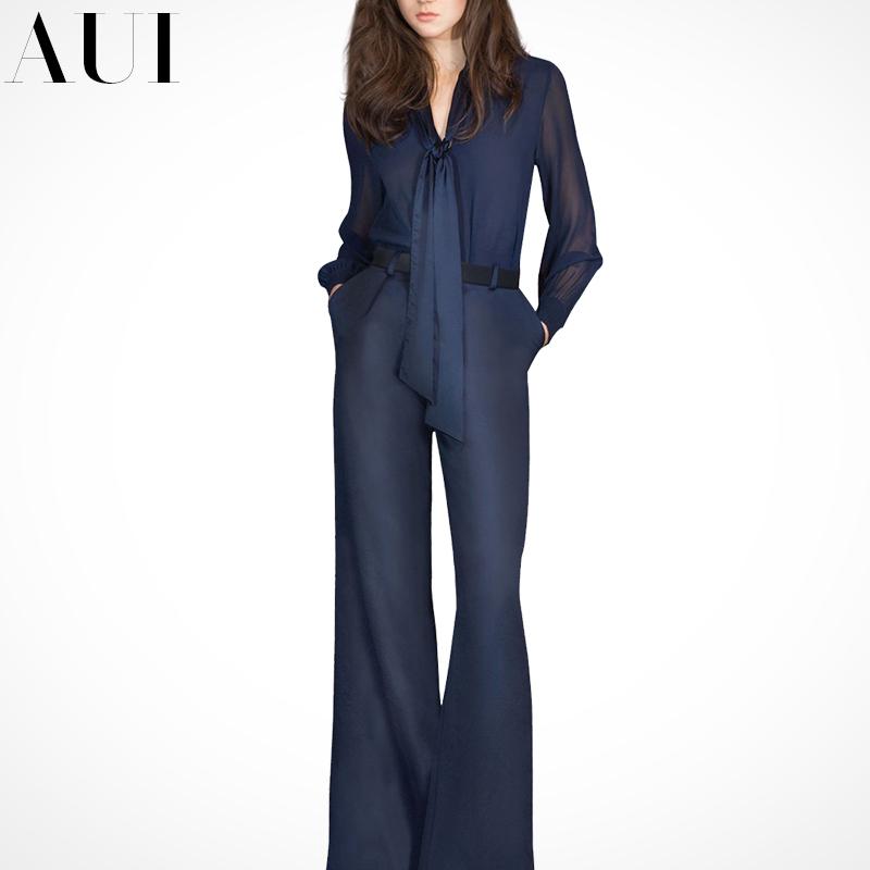 欧洲站2017秋季新款女装欧货秋装两件套欧美时尚气质阔腿裤套装女