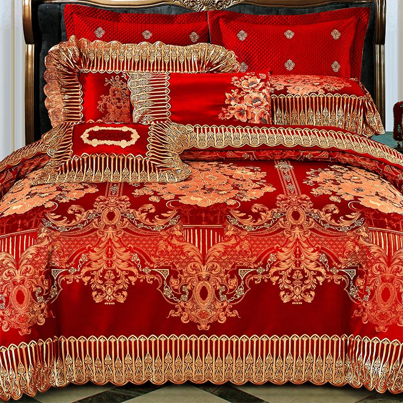 清悠居家纺结婚大红床上用品MLRY08