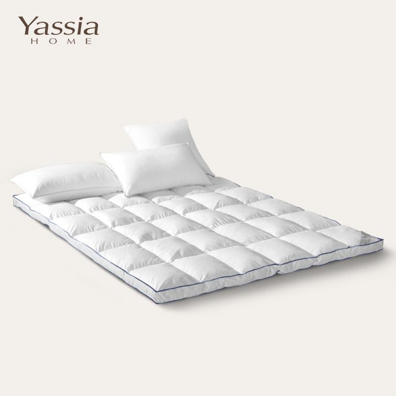 雅西亚白鹅绒羽绒床垫YB015